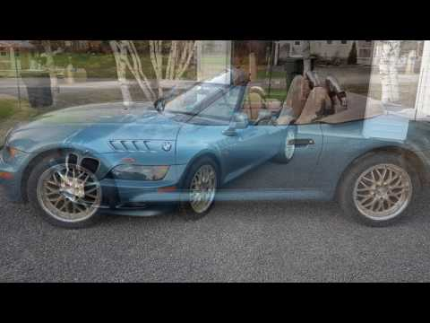 Before and after new wheels on BMW Z3