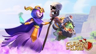 """Two new Super Troops have arrived to reinforce your army, Chief!   Equipped with a mobile Inferno Tower on his back, and just like the Single Mode Inferno Tower, the Inferno Dragon's beam attack increases in damage the longer it shoots up to 1600 DPS!   With 360 DPS the Super Witch does double the damage compared to a max-level Witch without the """"Super"""" upgrade, and she summons only one thing: the Big Boy. The Big Boy is a single giant Skeleton with almost as many hit points as a Super Giant!   Follow us on our Socials! Twitter ► https://twitter.com/ClashofClans/ Instagram ►https://www.instagram.com/clashofclans  Facebook ►https://www.facebook.com/ClashofClans   Attack. Defend. Strategize. Download for free for mobile devices. http://supr.cl/ThisArmy  From rage-filled Barbarians with glorious mustaches to pyromaniac wizards, raise your own army and lead your clan to victory! Build your village to fend off raiders, battle against millions of players worldwide, and forge a powerful clan with others to destroy enemy clans. PLEASE NOTE! Clash of Clans is free to download and play, however some game items can also be purchased for real money   Also, under our Terms of Service and Privacy Policy, you must be at least 13 years of age to play or download Clash of Clans. A network connection is also required.  FEATURES - Build your village into an unbeatable fortress  - Raise your own army of Barbarians, Archers, Hog Riders, Wizards, Dragons and other mighty fighters - Battle with players worldwide and take their Trophies - Join together with other players to form the ultimate Clan - Fight against rival Clans in epic Clan Wars  - Build 18 unique units with multiple levels of upgrades - Discover your favorite attacking army from countless combinations of troops, spells, Heroes and Clan reinforcements  - Defend your village with a multitude of Cannons, Towers, Mortars, Bombs, Traps and Walls - Fight against the Goblin King in a campaign through the realm  Chief, are you having"""