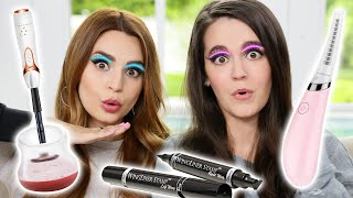 Testing Fun Beauty Gadgets w/ My Sister! *GONE WRONG*