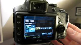 How to change Autofocus (AF) settings on Nikon D3300
