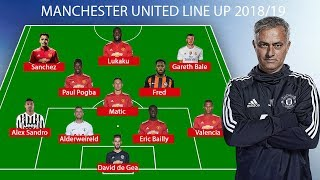 Manchester United Predicted Line Up 2018/19 ● Fred, Alex Sandro, Bale ...