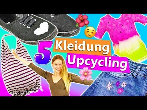 5 Kleidungs Upcycling DIY Ideen | einfache T-Shirt Hacks ohne Nähen | Aus alt mach neu | Inspiration