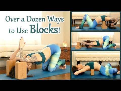 How to Use Yoga Blocks to Advance Your Practice, Passive Backbends, Back Pain Stretch