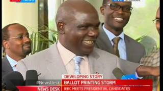 The contract has already been signed and nothing can be done, Wafula Chebukati, IEBC chairman