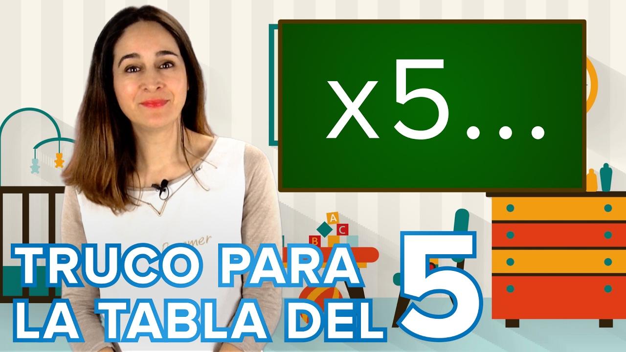 Truco de la tabla de multiplicar del cinco | Matemáticas para niños