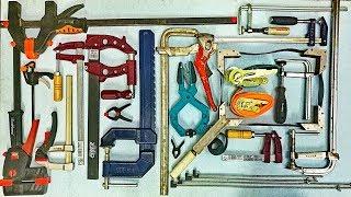 Струбцины, стяжки и зажимы для столярной мастерской