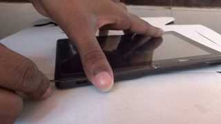 How to open an android tablet's case.