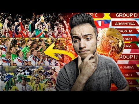 توقعاتي لنتائج كأس العالم 2018⭐????