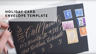 Holiday Card Envelope Template Tutorial & Printable