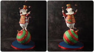 Mouse Circus Cake Tutorial | Circus Cake In The Making 🐁🎂