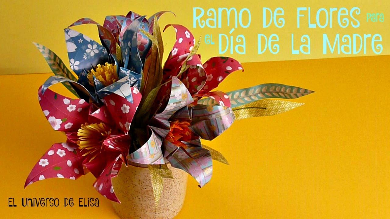 Ramo de Flores de Papel para el Día de la Madre, Cómo hacer flores de lys, Ramos de Flores Origami