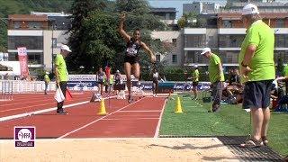 Aix-les-Bains 2018 : Triple saut F (Rouguy Diallo avec 14.15 m)