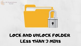How to lock and unlock a folder in windows 10 - easiest and simplest way