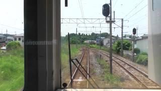 JR羽越本線 秋田→羽後本荘【701系・前面展望】 2017.07.07 JR Uetsu Main Line