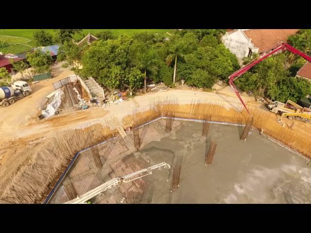 Đổ Sàn Tầng 1 Móng Đại Tượng Phật A Mi Đà Nhìn Từ Flycame Chùa Khai Nguyên