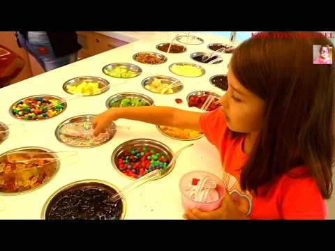 Kids Ice Cream Making.  Funny Video from KIDS TOYS CHANNEL