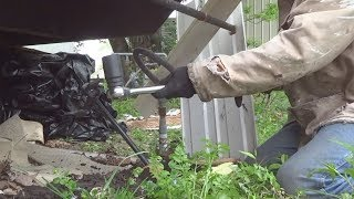 HOW TO INSTALL MOBILE HOME EARTH ANCHORS BY HAND