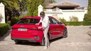 YouTube Video MjcJrQqWWyQ for Product Audi A3 Sportback (4th gen, Typ 8Y) by Company Audi in Industry Cars