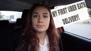 MY FIRST UBER EATS DELIVERY! & REVIEW