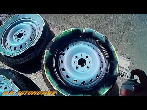 D.I.Y. Steel Rims Repaint. (Fiat Seicento wheels)