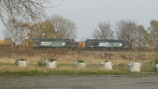 preview picture of video 'Greenfield 20.11.2014 - DRS 37603 & 37667 on Valley flasks - Flint Holywell'