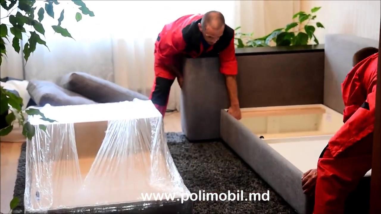 Монтаж углового дивана MILAN