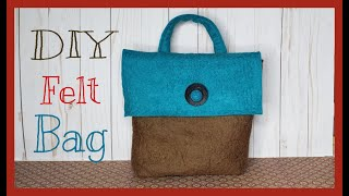 DIY EASY BAG / How To Make Your Own Wool Felt Bag