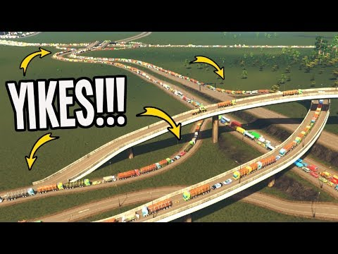 Overwhelming Traffic in a Tiny Town! Can we Fix Cities Skylines???