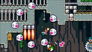 【Super Mario Maker】クリア率0%(0/8692)超鬼畜マント&花粉症コースに挑戦【マリオメーカー】