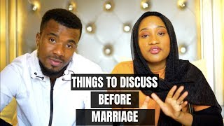 THINGS TO DISCUSS BEFORE MARRIAGE