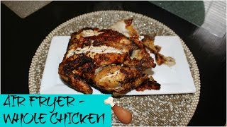 HOW TO AIR FRY A WHOLE CHICKEN | SINGLE MOM COOKING