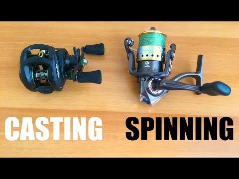 Casting o Spinning? Questo è il DILEMMA - Spiegazione Mulinelli a Bobina Rotante