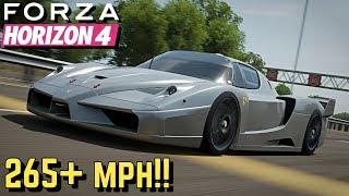 FORZA HORIZON 4 : 265+ MPH Ferrari FXX Tutorial!!