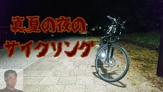 【サイクリング】真夏の夜のサイクリング!【YAMAHA PAS Brace XL】