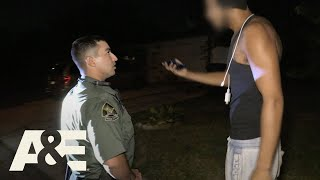 "An officer stops a man on the street for suspiciously walking around with a rifle case at night, and when he questions the man, he immediately takes off in this clip from ""11.10.18"". #LivePD Subscribe for more from Live PD and other great A&E shows: http://aetv.us/subscribe_ae    Find out more about the show and watch full episodes on our site:  http://aetv.us/LivePDOfficial    Check out exclusive A&E content:  Website - http://www.aetv.com/  Facebook - https://www.facebook.com/AETV  Twitter - https://twitter.com/AETV  Google+ - https://plus.google.com/u/0/+AE  On ""Live PD,"" ABC's Dan Abrams and Dallas Police Department Detectives Rich Emberlin and Kevin Jackson offer insight and commentary as live cameras capture the work of a mix of urban and rural police forces around the country on a typical Friday night.  A&E leads the cultural conversation through high-quality, thought provoking original programming with a unique point of view. Whether it's the network's distinctive brand of award-winning disruptive reality, groundbreaking documentary, or premium scripted drama, A&E always makes entertainment an art. Visit us at http://www.aetv.com for more info."