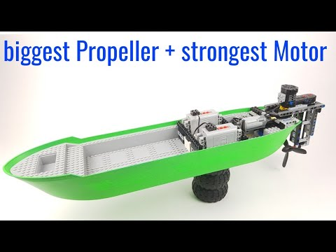 Lego Technic RC Boat - biggest Propeller + strongest Motor