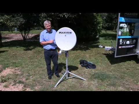 Aufstellen der mobilen Sat-Antenne Maxview Precision