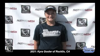 2021 Kyra Gooler Outfield Softball Skills Video - CA Breeze - Birch