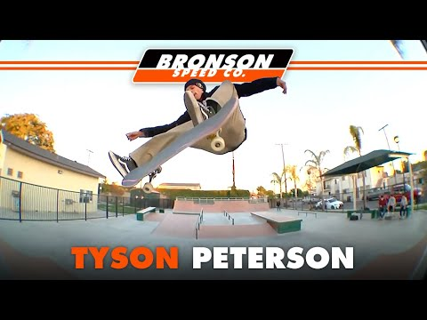 Tyson Peterson skating Clarkedale skatepark with the homies