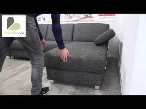 Schlafsofa HAMBURG DELUXE von sofaplus - Lattenrost - Bettkasten - Dauerschläfer - mysofabed.de