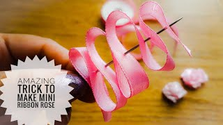 Amazing Ribbon Flower Work|Hand Embroidery|Ribbon Flowers|Creative DIY Ribbon Crafts|Quicky Crafts