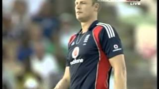Andrew Flintoff HAT TRICK, full over, vs West Indies, 5th ODI 2009