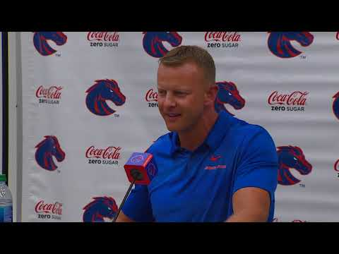 Watch Boise State coach Bryan Harsin's last press conference before the season open