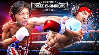 ROCKY BALBOA vs CREED IRL Big Rumble Boxing Challenge! (FGTeeV Funny Game w/ Father vs Son)