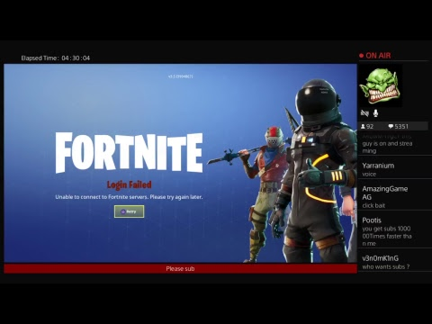 Failed to connect to matchmaking servers fortnite  Fortnite