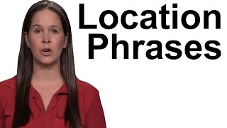 English Phrases -- Where something is Located -- In the Kitchen