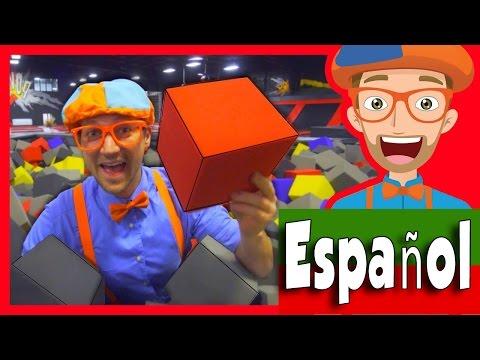 El Parque de Trampolines con Blippi Español | Aprende Los Colores