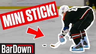 USING MINI STICKS IN A REAL HOCKEY GAME