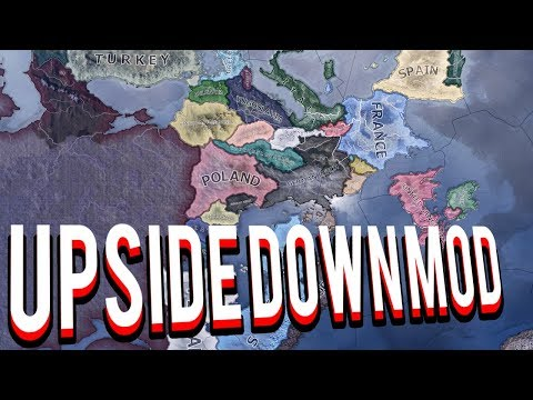 UPSIDE DOWN MOD IN HEARTS OF IRON 4 HOI4 MOD - смотреть онлайн на