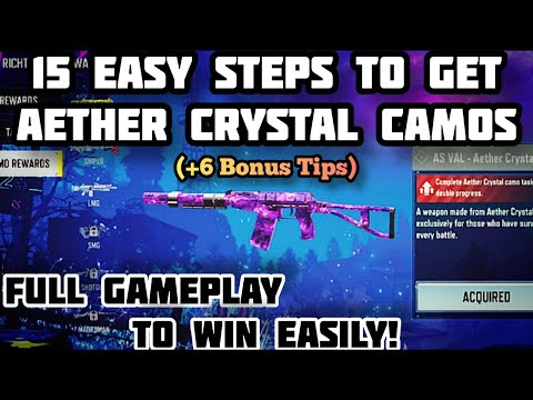 How to get Aether Crystal Camo cod mobile   how to win undead siege hard gameplay cod mobile  